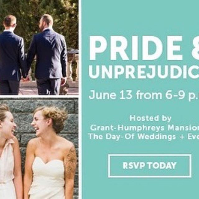 "We are excited to announce that we will be participating in this event hosted by @thedayofdenver and @granthumphreysmansion! Come on by for a chance to meet with a wide array of vendors who support and serve the LGBTQ+ community.  More info below 👇  Engaged? Or just ""engaged-curious""? Join us on June 13th as The Day-Of Weddings + Events and Grant-Humphreys Mansion invite LGBTQ+ couples to a fabulous celebration of love and wedding planning!  Navigating the complex maze of wedding venues, florists, caterers and photographers is a challenge in itself, and LGBTQ+ couples have the added concern about whether a venue or vendor is accepting and inclusive. Purchase tickets in the link in our bio ✨"