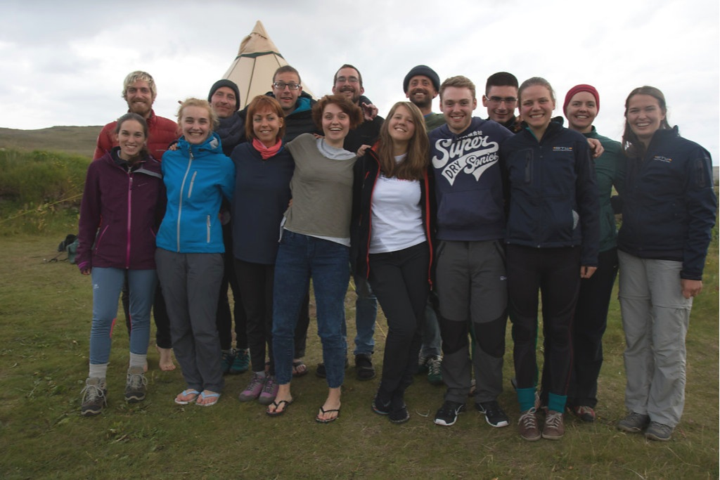 Cairn camp, Westfjords, Iceland, in collaboration with SEEDS volunteer organisation