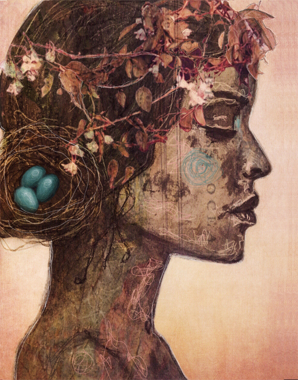 contemporary artwork by collage artist Angela Amias
