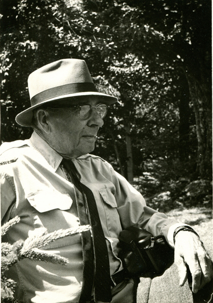 Craig Burt (1882-1965) - Craig O. Burt was the majority owner and CEO of the C.E. and F.O. Burt Company and Burt Forests, Inc., located in Stowe, Vermont. He was also a major landowner, forester, and early proponent of skiing in Stowe. He developed Ranch Camp,helped to form the Mount Mansfield Ski Club, which included the first ski patrol in the US, organized Stowe's first Winter Carnivals (which continue today) and, in 1934, successfully formed the plan for a Stowe-Mansfield Association, which was the precursor of the Stowe Area Association.In the winter of 1918, Burt and other Stowe businessmen were looking for ways to revitalize the nearly dormant winter economy of Stowe. They started a Winter Carnival that included ski jumping and numerous other activities and events. In the 1930s, Burt and his sons fixed up a primitive lumber camp tucked behind Mt. Mansfield in the Ranch Valley, and began welcoming skiers from near and far. For several years, Ranch Camp as it became known, was the center of skiing activity in Stowe. He was one of the first to see the economic benefits skiing could bring to Vermont. He also had a native Vermonter's appreciation for the wild beauty of the Ranch Valley and that of the Lamoille Valley. Radio Announcer Lowell Thomas, who did much to popularize skiing in the 1930s and 40s, called Craig Burt