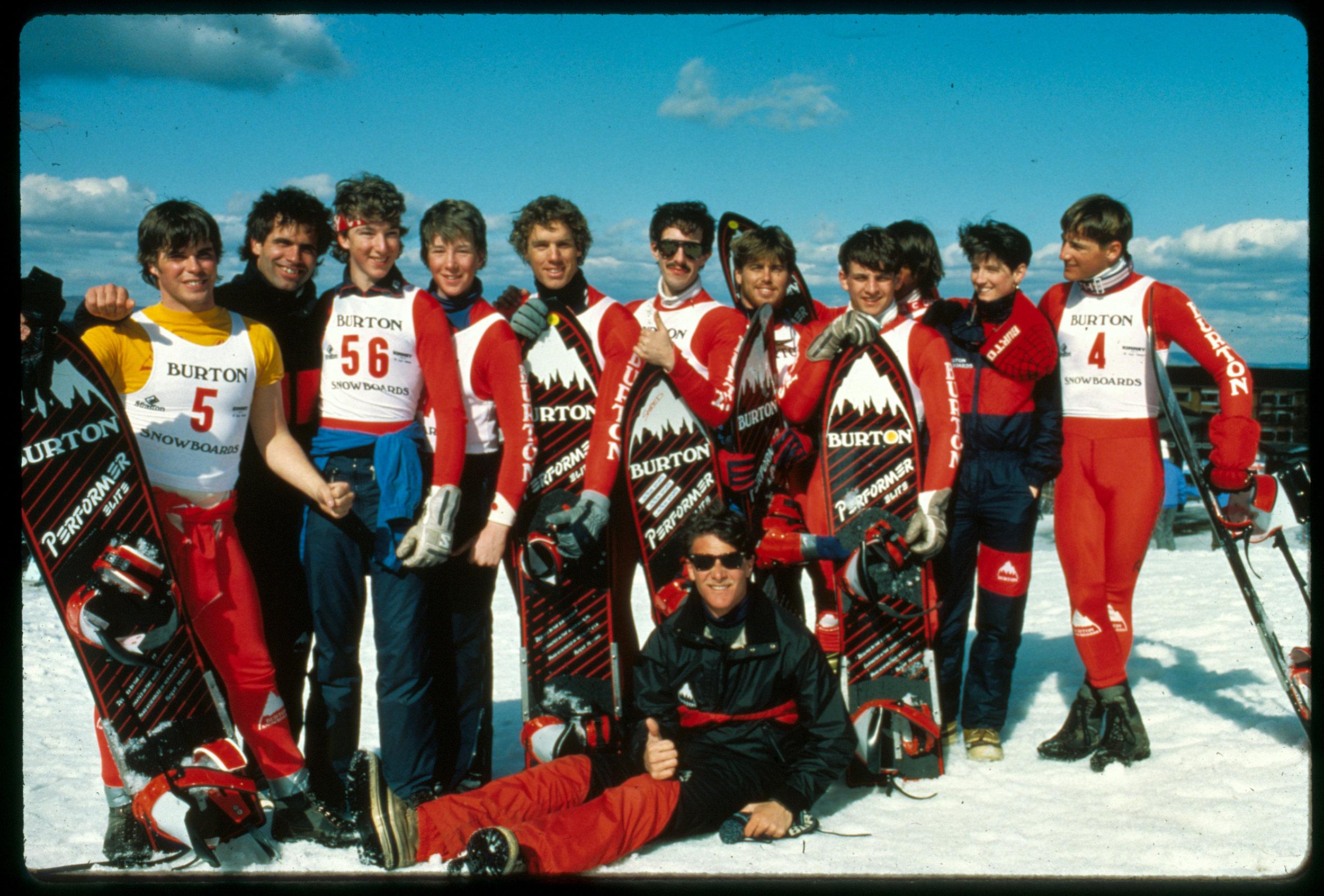 Burton Team at Stratton, 1984