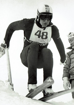 "Jeff Hastings  - Jeff grew up in Norwich, skiing with his brothers and Holland brothers. Coached by Bud Fisher at Williams College, Jeff made the national ski jumping team and began traveling the world. At the World Cup in Lake Placid in December 1983, he tied for third on the Normal Hill and came back the next day to finish first on the Large Hill. He headed to the Winter Olympics in Sarajevo, Yugoslavia in February 1984. At 24 years old, Jeff's fourth place – a mere 1.7 points from bronze – has remained the best American Olympic ski jumping finish since Anders Haugen at the inaugural games, sixty years earlier. Jeff finished the 1984 World Cup season fourth overall and retired from competitive jumping. In 1985, he started coaching. In 1988, he led the U.S. Nordic Combined Team at the Olympics in Calgary, Canada.  Jeff's experience and knowledge have also made him a sought after commentator for almost three decades. He has served as a ski jumping TV analyst for eight Olympics. His 26 year tenure includes every Winter Games since 1988.  In an effort to ensure other athletes would have the same opportunities as he did, in 2009 he worked with Alan Johnson and Rex Bell, Jim Holland and other jumpers to found USA Ski Jumping, now USA Nordic Sports.Jeff also started the ""Story Project"" which solicits stories from jumpers past, present and future."