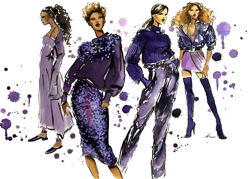 Ultraviolet - Fashion Illustration by Veronica Miller Jamison, Veronica Jamison Art