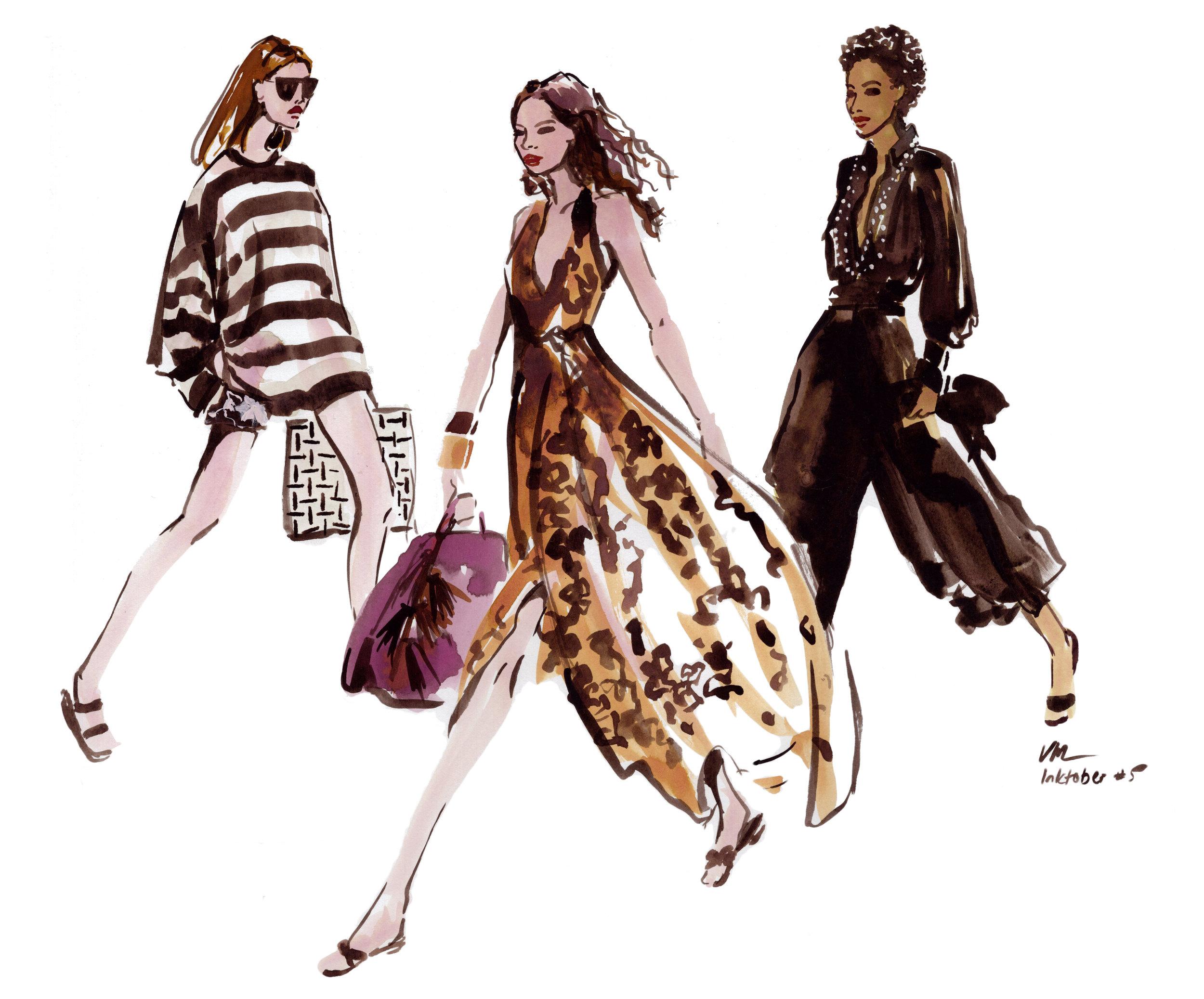 Fashion Illustration by Veronica Miller Jamison, Veronica Jamison Art