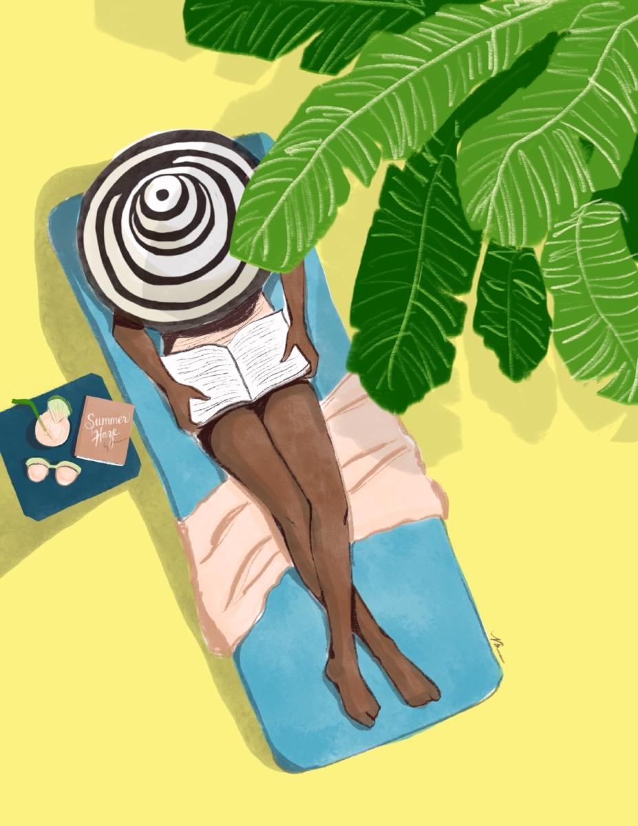 Summer Reading - Illustration by Veronica Miller Jamison, Veronica Jamison Art