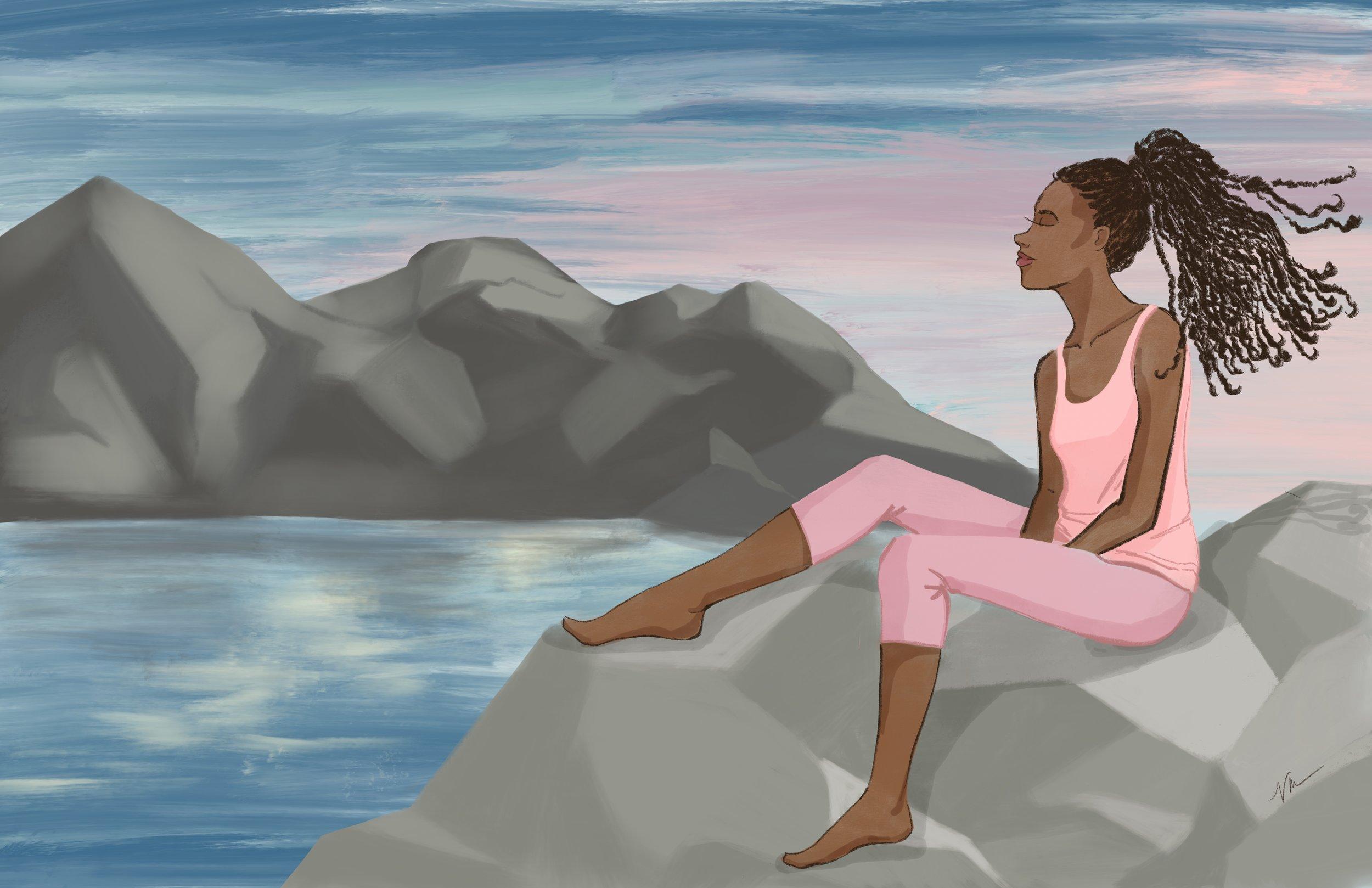 Finding Stillness by Veronica Miller Jamison, Veronica Jamison Art