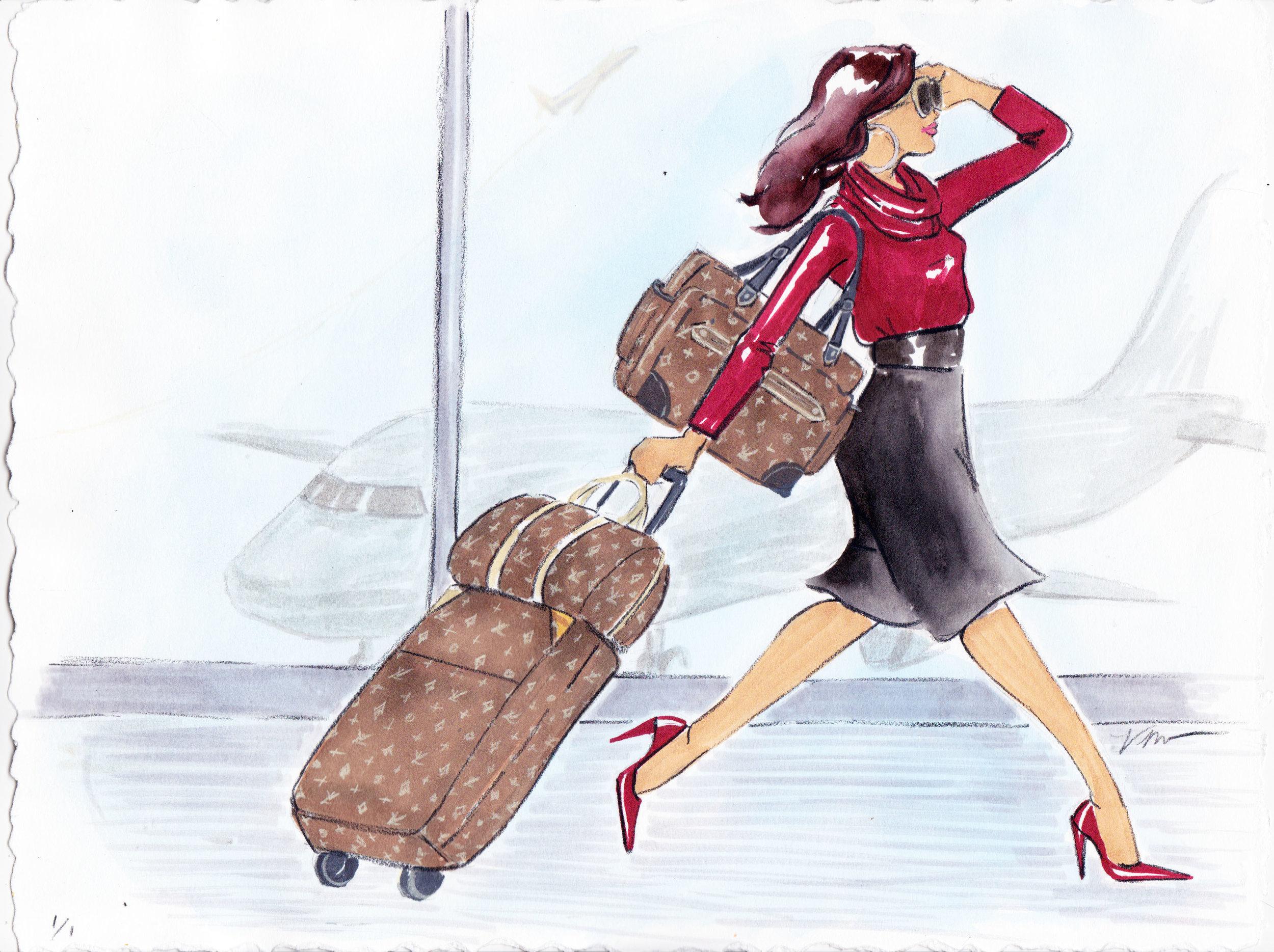 Travel Illustration by Veronica Miller Jamison, Veronica Jamison Art