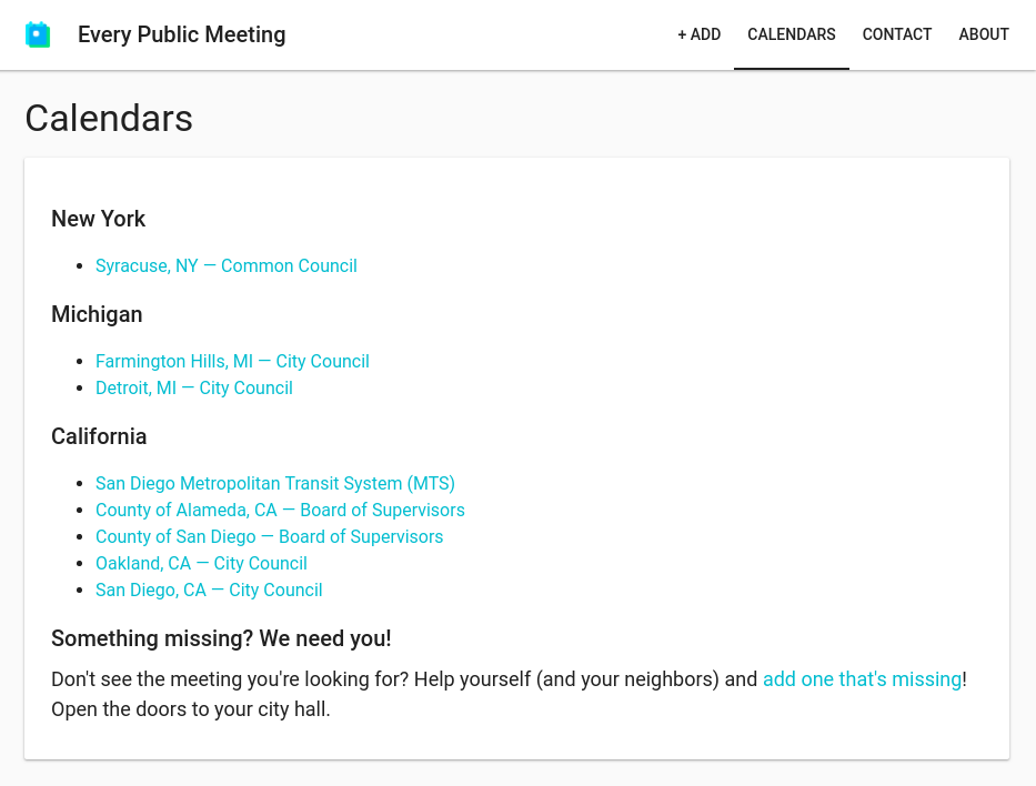 See more at  https://everypublicmeeting.com/calendars
