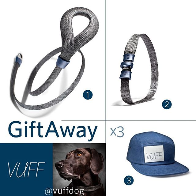 We have teamed up with @herdingblake @theshilohsquad and @adventureswithkiera for this latest #GiftAway of Vuff products. Details below • • • • • . 🏆PRIZE🏆 3 lucky winners will receive their own collar and leash set (you pick the colors) as well as a Vuff dog walk hat! . . ✨TO ENTER:  1️⃣ Must follow @vuffdog , @herdingblake @theadventuresofkeira, and @theshilohsquad  2️⃣ Enter by tagging friends! 1 tag per comment for entries to count. Unlimited Entries . . This giveaway will end on Sunday June 23th at 11:59 pm EST ↡↡↡ Winners will be selected at random and announced within 48 hours of contest ending . . . Public pet accounts only please, no back up accounts. Please follow ALL rules to be considered! Unfollowing may result in disqualification from future contests . . . This giveaway is no way affiliated with Instagram.