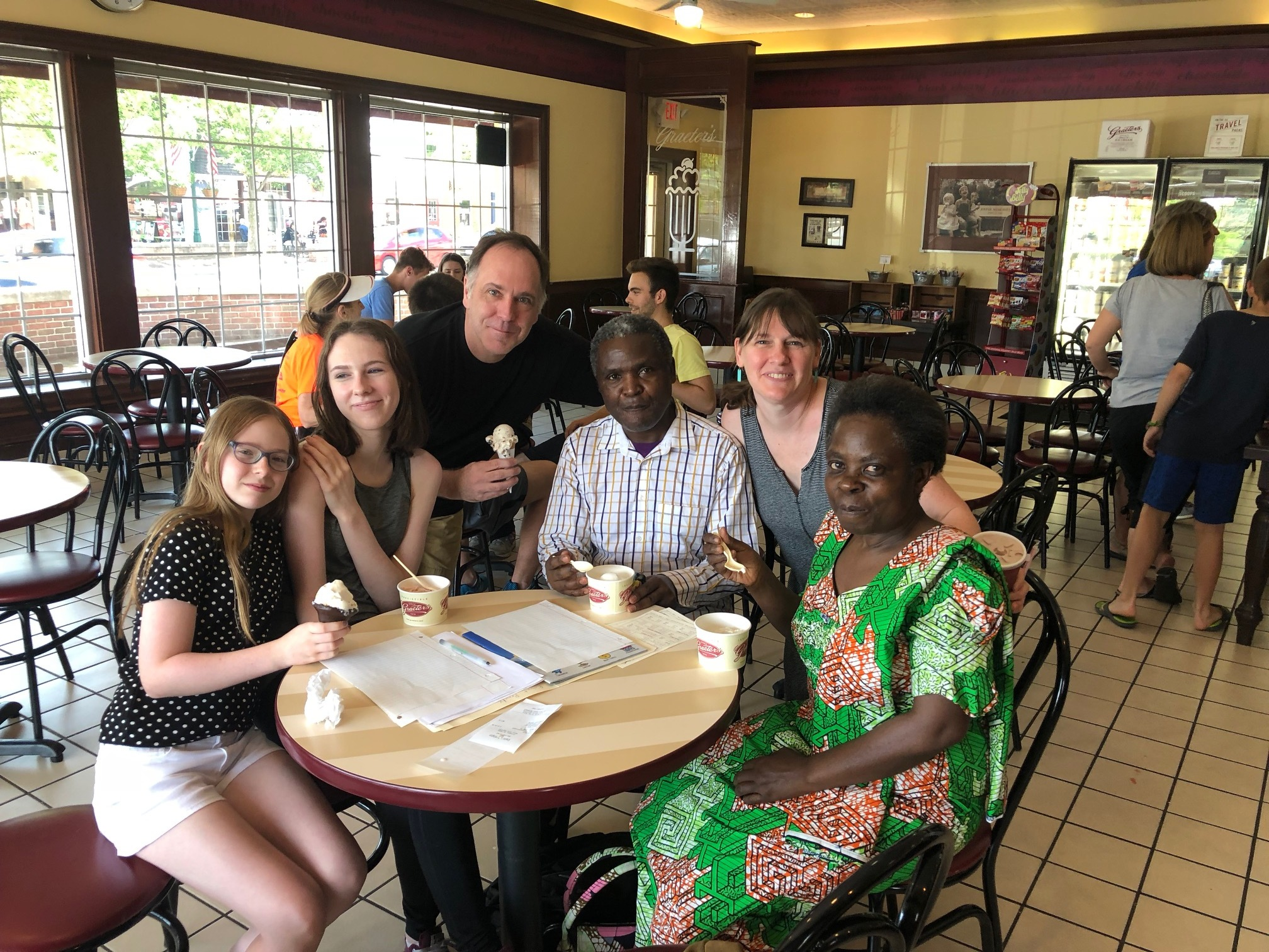 Volunteering is your chance to develop meaningful relationships. - Pictured: a few of our most dedicated volunteers with clients on a cultural outing.