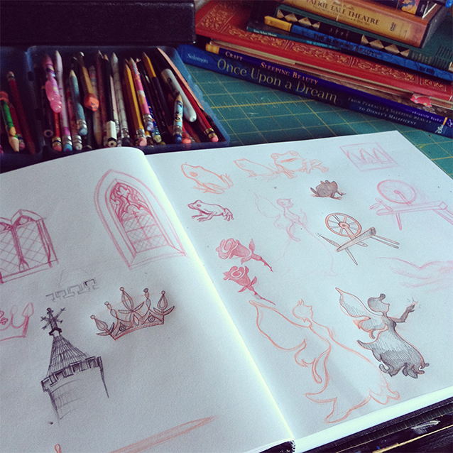 sleeping beauty has been illustrated beautifully for centuries… so i started sketching, too.