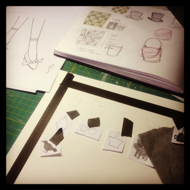 yes, i do my layouts with tape & paper & transfer paper. none of this computer nonsense.  ;)