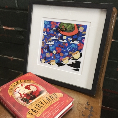 small limited edition faerie tale feet print shown here framed. available HERE.