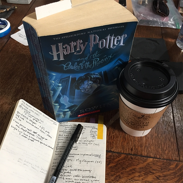 i always start a new faerie tale feet painting by doing all the research i can. for ron, of course, i got to reread all the harry potter books, taking copious notes about how our favorite tall, lanky redheaded hogwarts express companion made an impact on all the other characters.