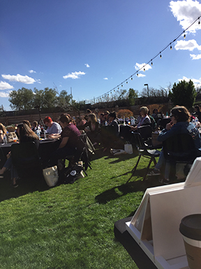 here was a partial view of the beaulitfulcon event lawn from behind my vendor table on event day. just look at that beautiful desert winter sky! (yes, i came home to 36-ish degree rain. it was an excellent reprieve to see and feel the sun!!)