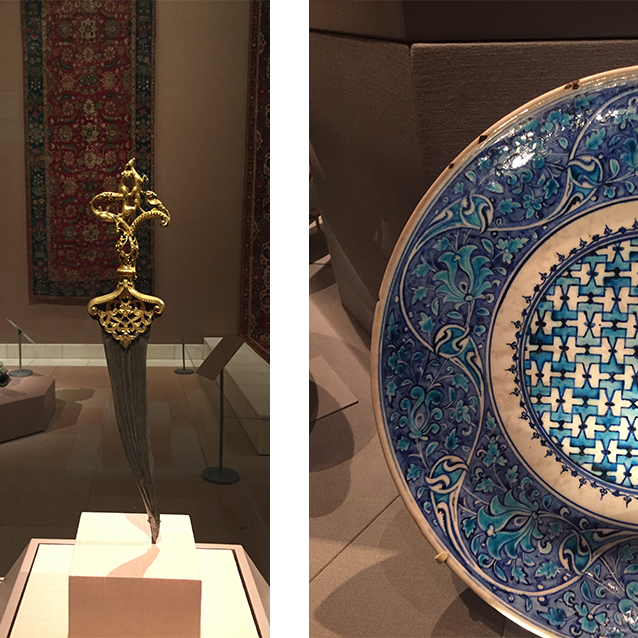 "a few recent trips to the met in nyc had my iphone full of reference photos. i'm obsessed with the ""art of the arab lands, turkey, iran, central asia, & later south asia"" wing. (yes, i had to look at my framed met map to get that title right.) ;) and yes, you are correct this isn't the  FIRST  faerie tale feet painting inspired by a trip to the met. or even the  first  from this wing of the met. but i got a lot of details from the rugs and tableware and walls and all the things on this last trip!"