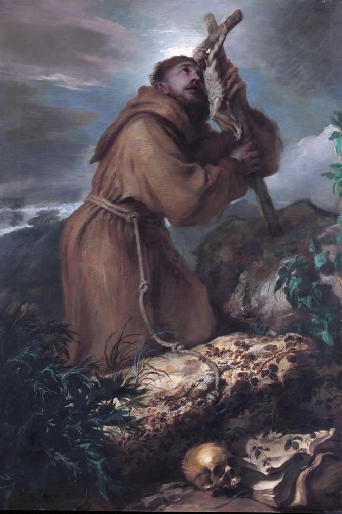 St. Francis of Assisi by Giovanni Benedetto Castiglione.