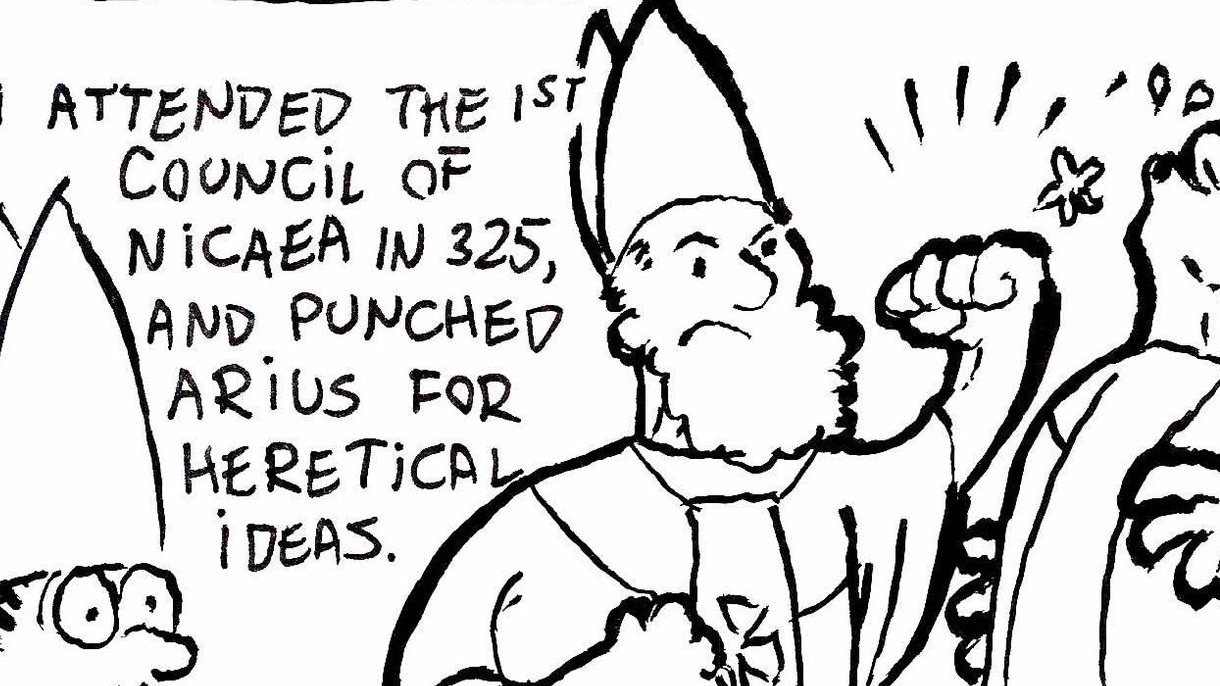 If I every have a chance to draw Santa Clause punching out a Bishop, I'm going to take it!.