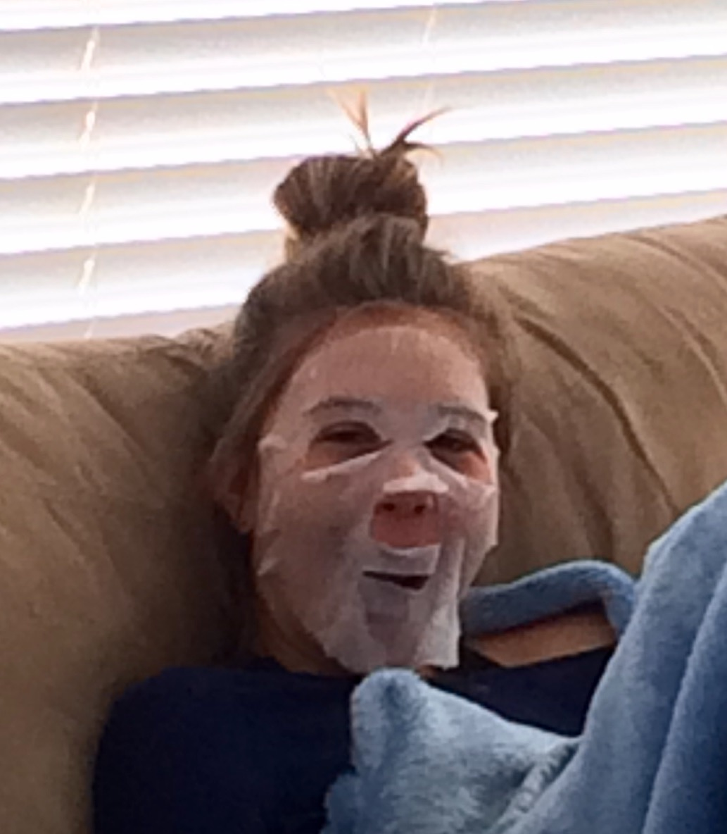 favorite picture of one of my besties with a face mask on. she will kill me when she sees this btw.