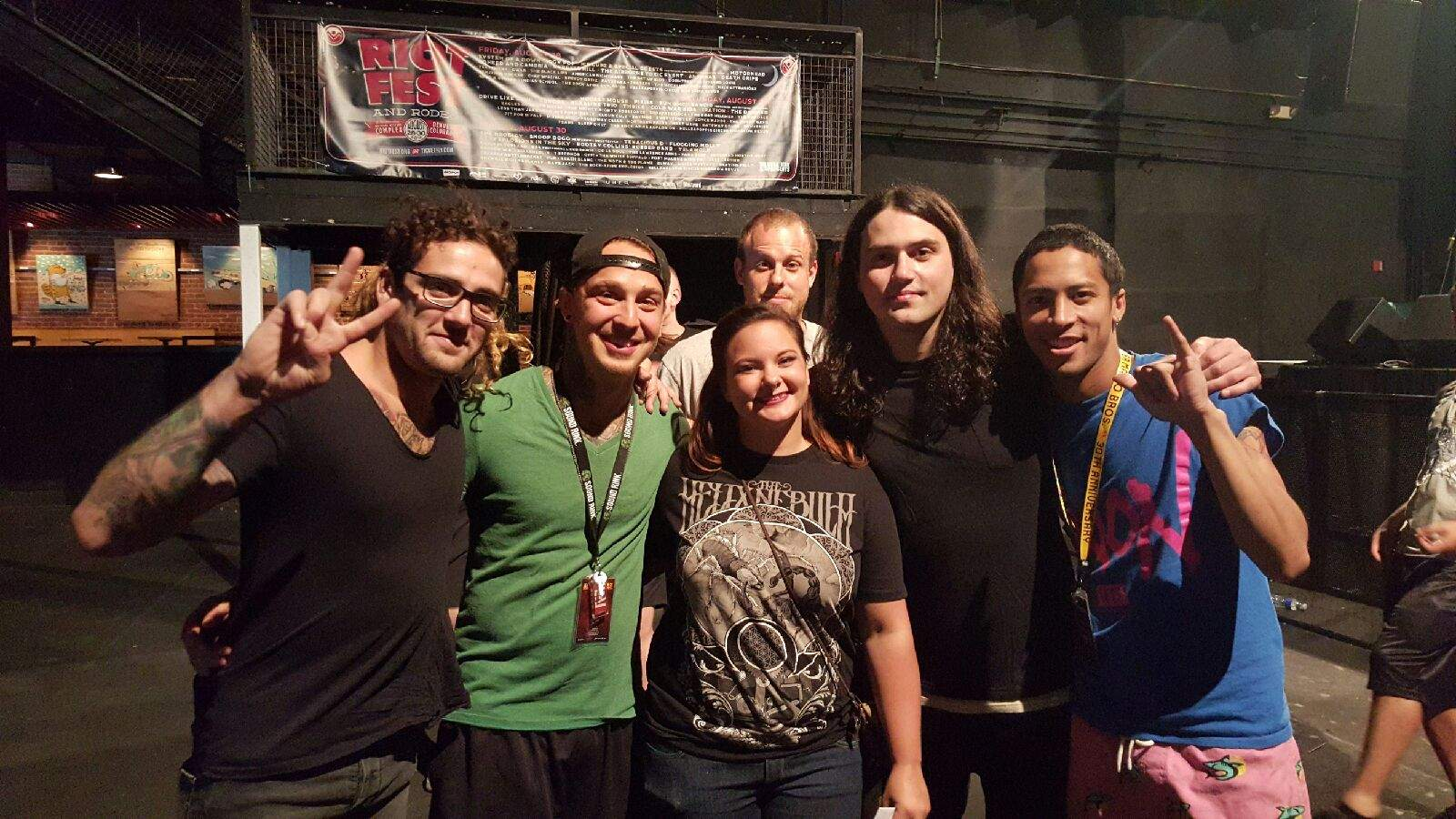 Meeting Born Of Osiris in Denver, CO.