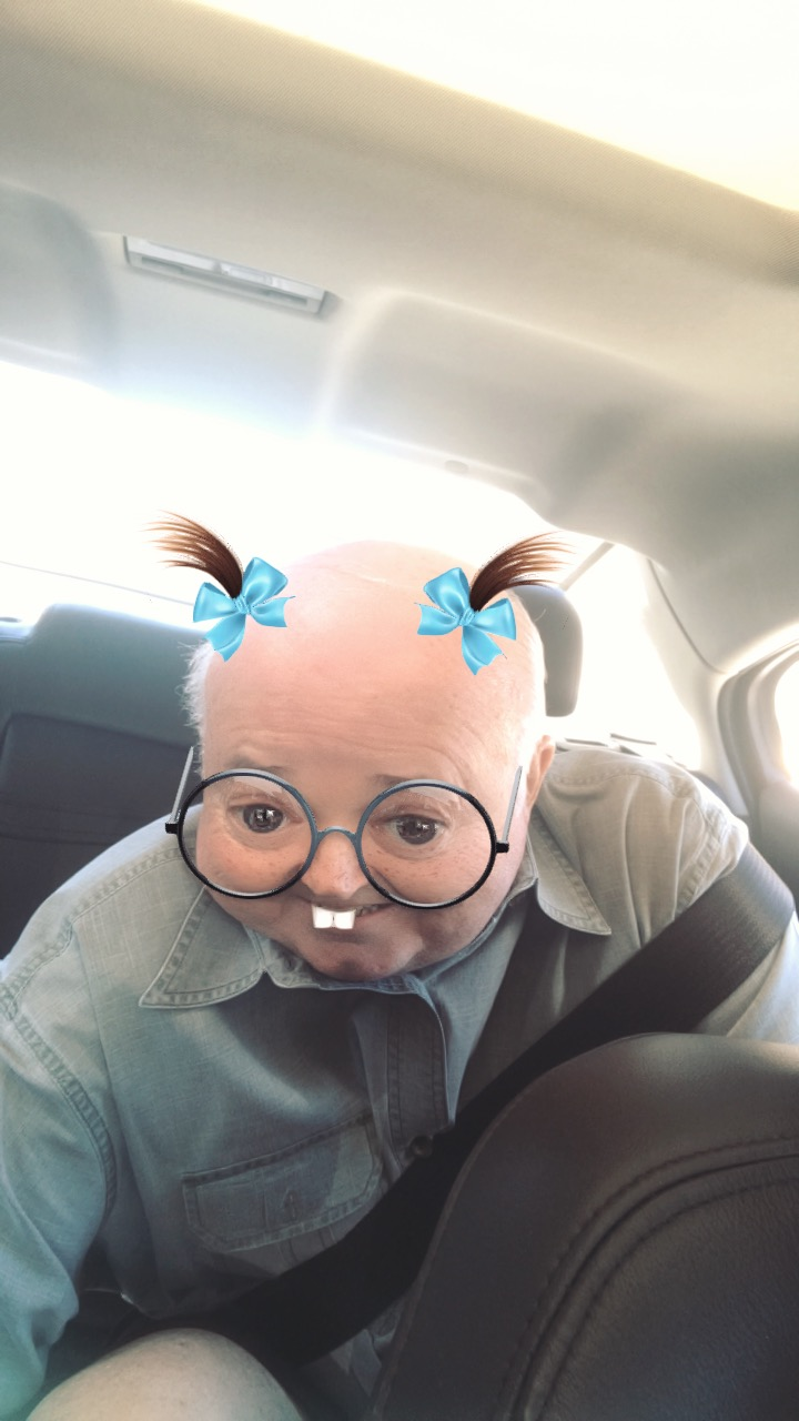 We always maintained our senses of humor, even when things were really tough. This is my dad being cute on snapchat.