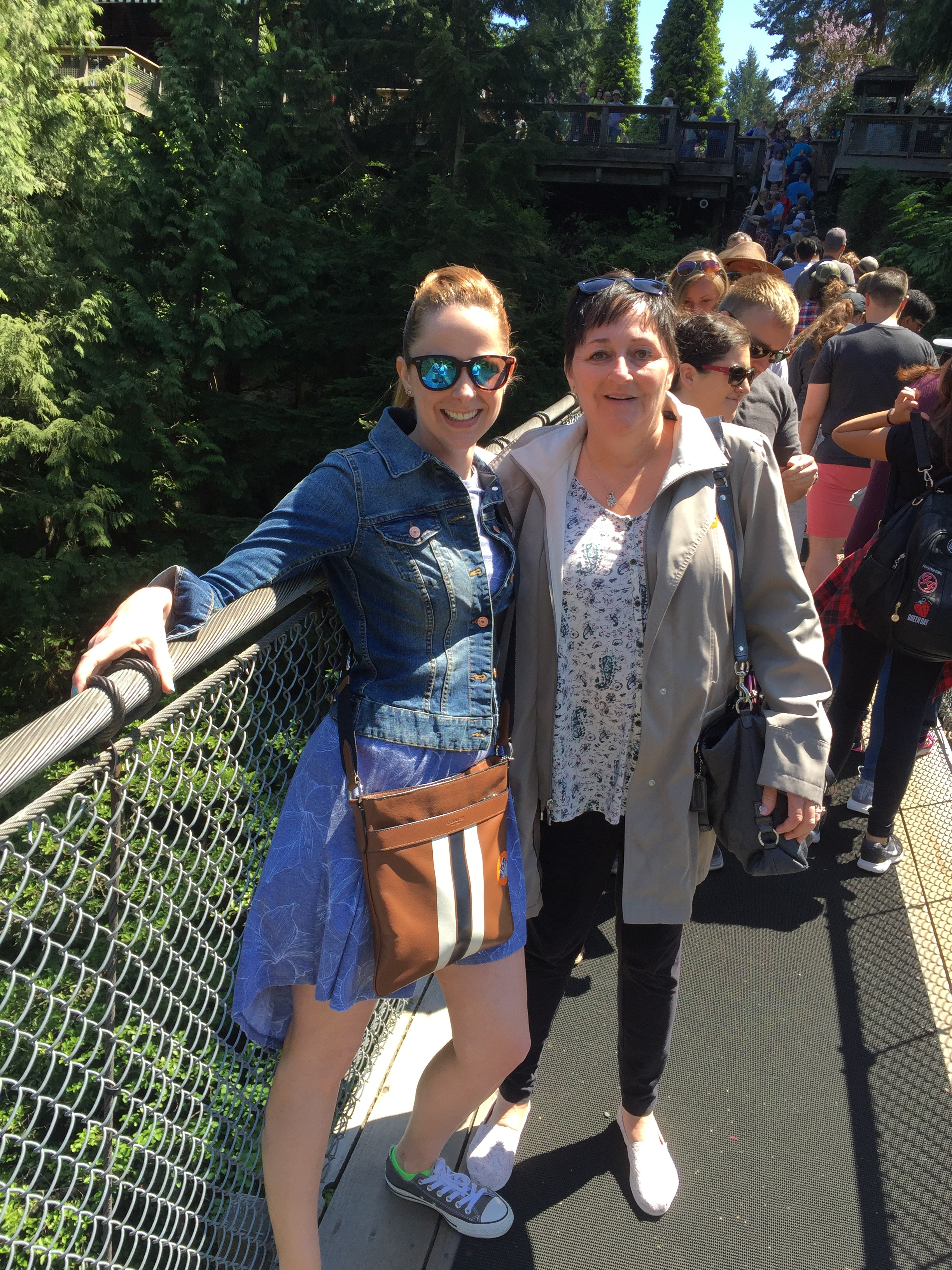 Mom & I on a suspension bridge in Vancouver, BC - May 2017 (She was WAY outside her comfort zone)