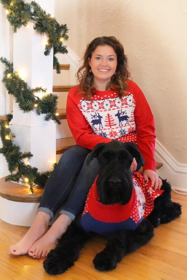 Yes, those are matching sweaters. Duh.