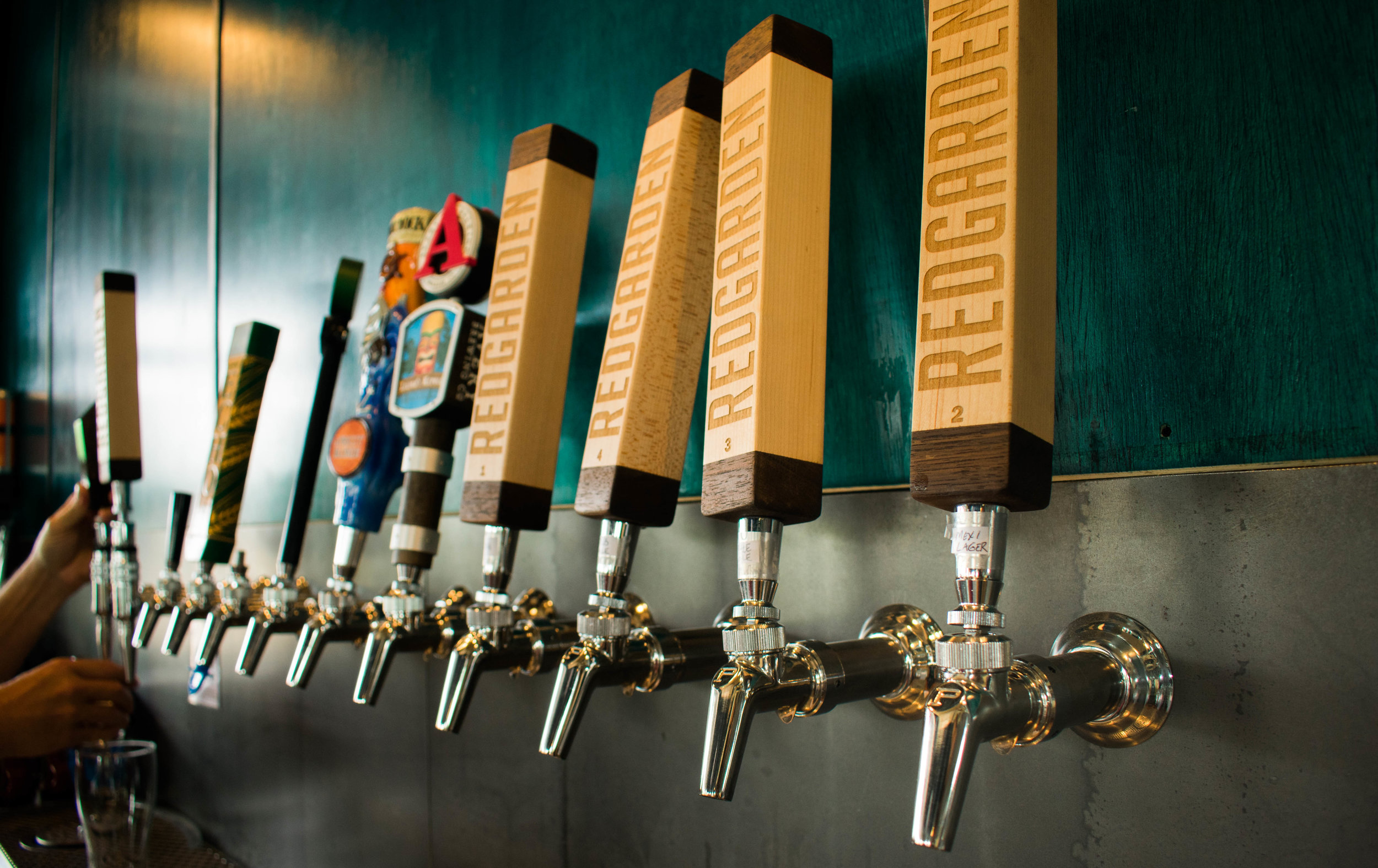 HOUSE-CRAFTED ALES AND LAGERS