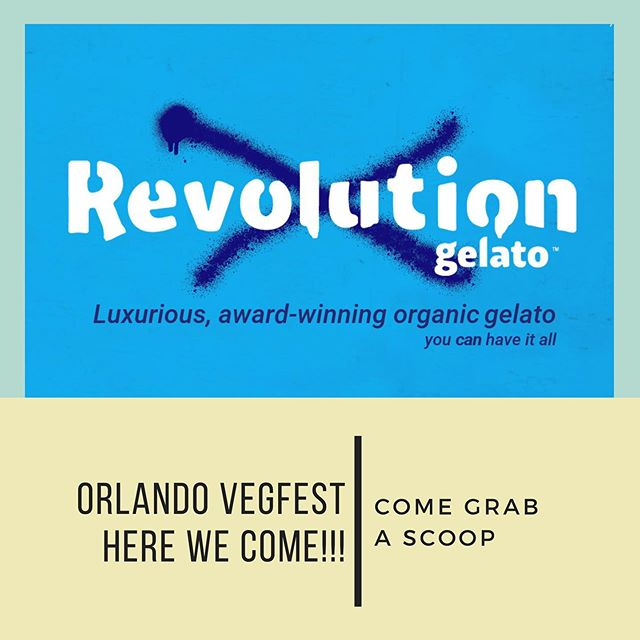 Orlando here we come! It's our first year attending the biggest VegFest of the year. Look for our logo at our tent and come say hello! Let's make this the best event of the year! :) #orlandovegfest #revolutiongelato #youcanhaveitall #cfvegfest2019