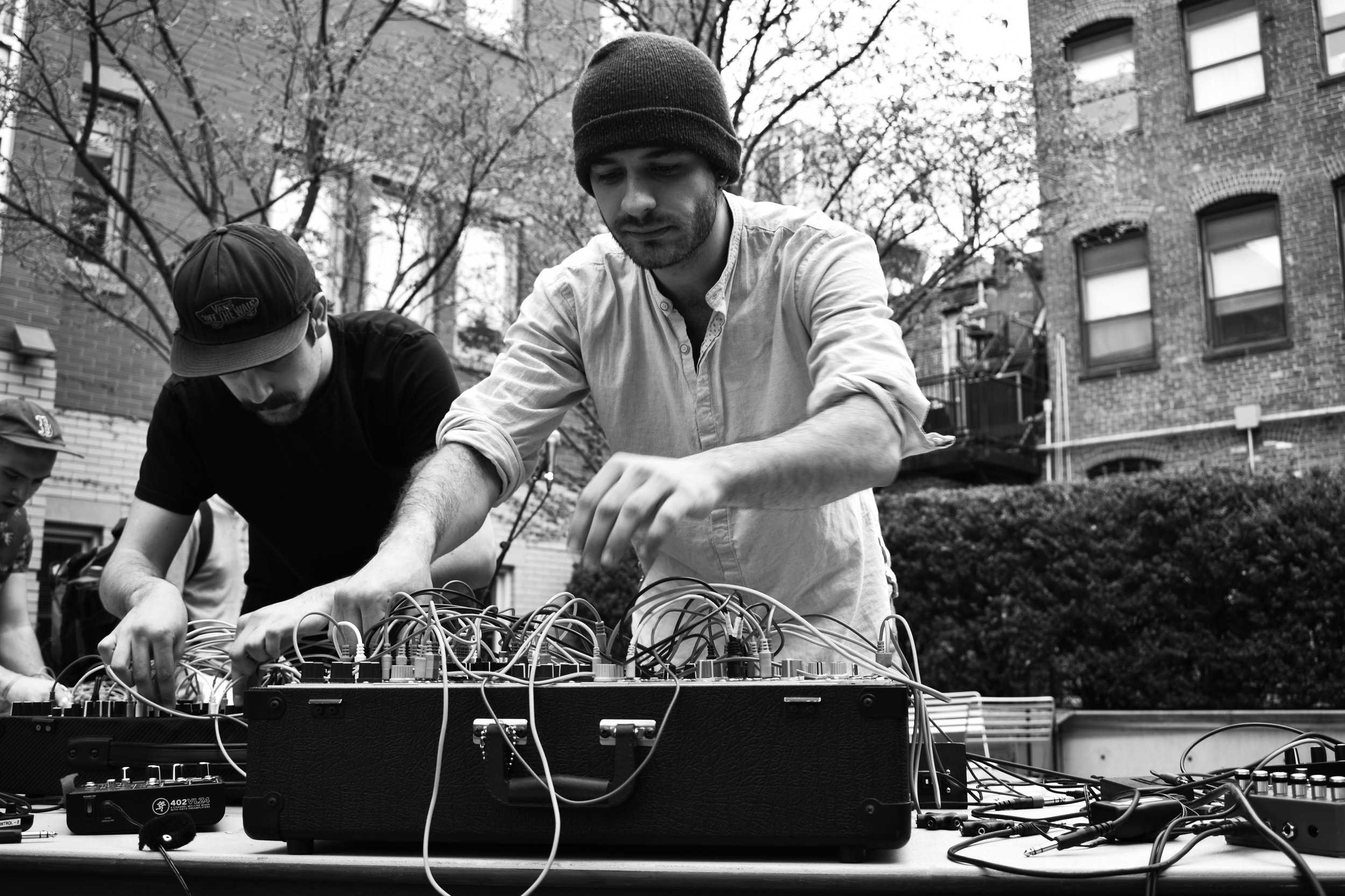 Performing at Berklee's Modular on the spot with Stefano Genova.