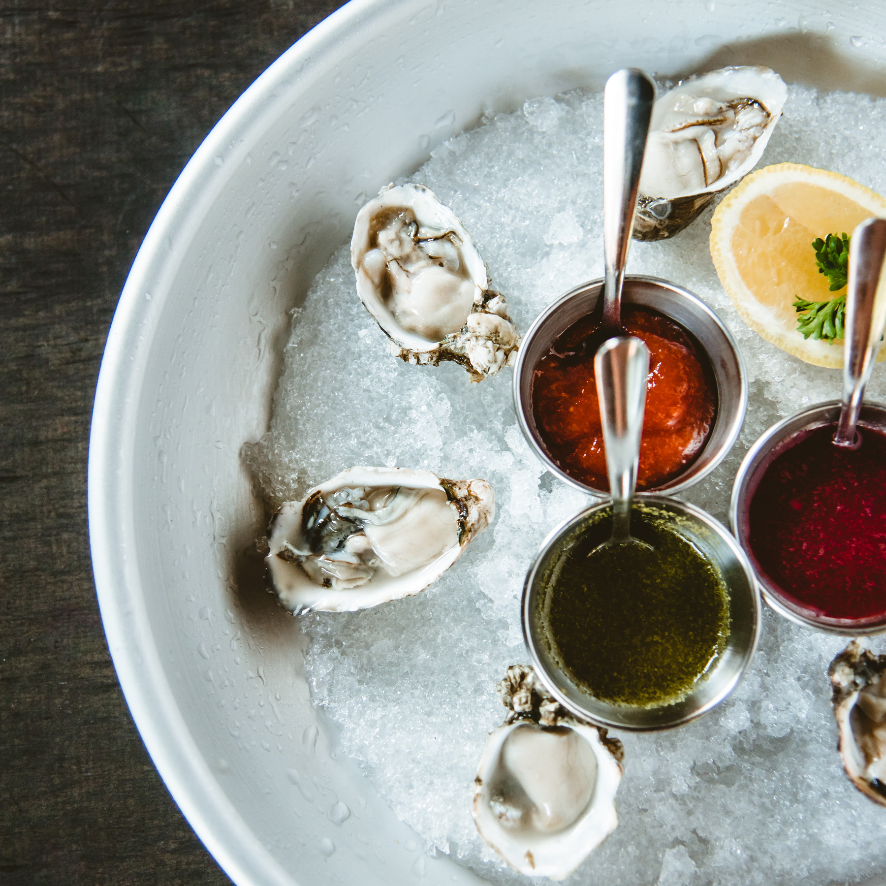 Raw Oysters ~ Flown in Daily from Seattle Seafood Co.
