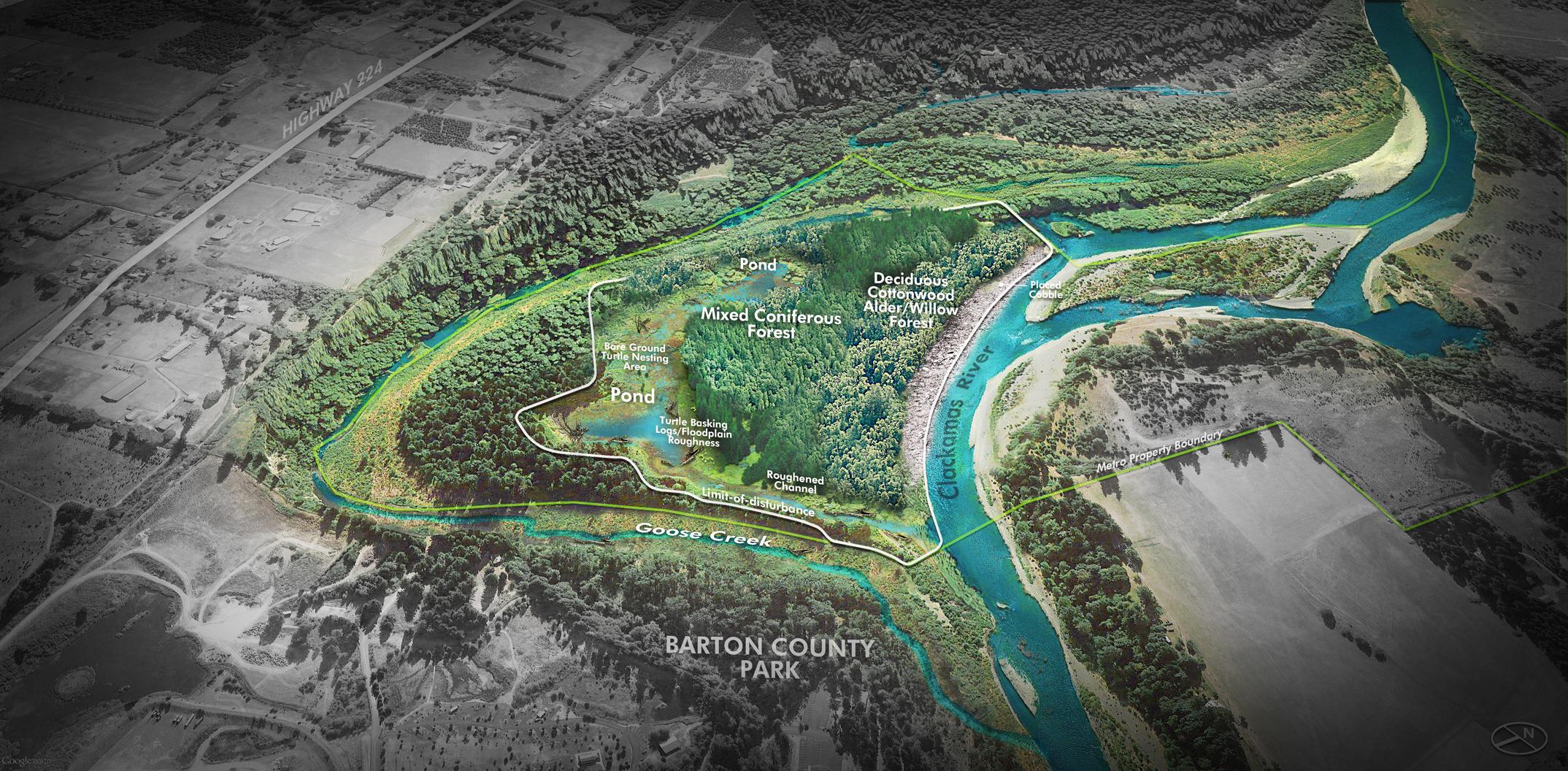 River Island Restoration Project, ACEC Oregon, Honor Award, 2018
