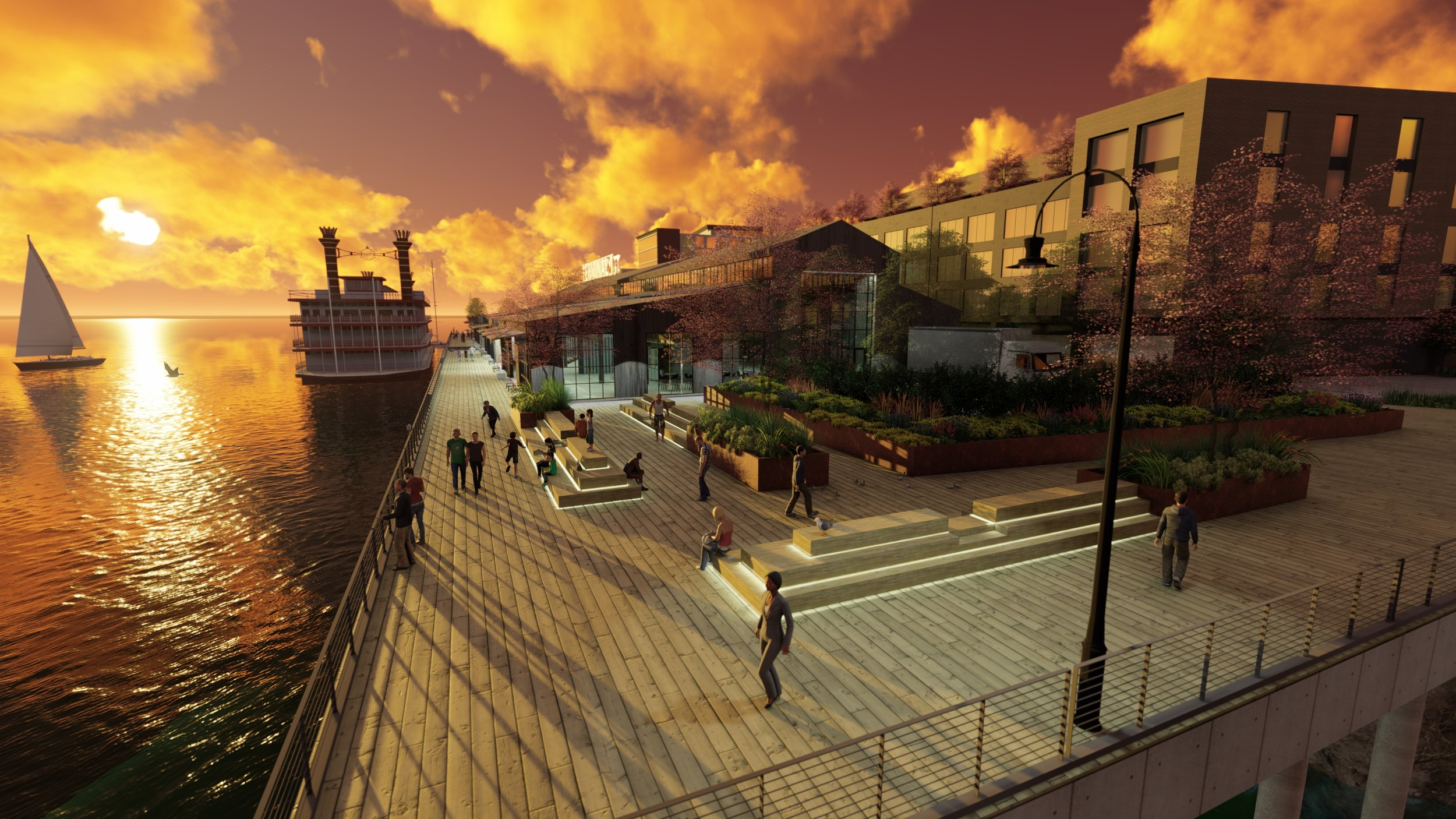 A possible future for Terminal 1, at sunset