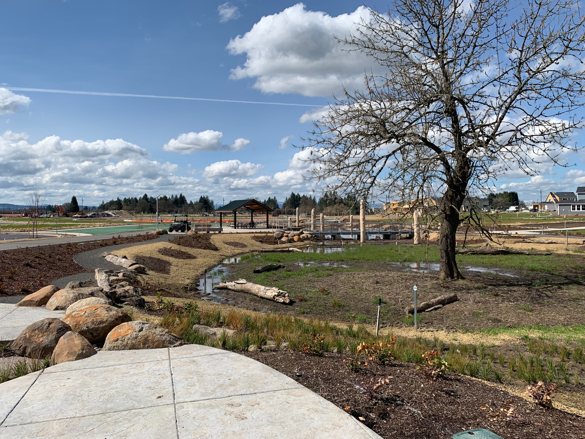 We celebrated stormwater by bringing it into the common areas at Reed's Crossing, a new community in South Hillsboro, Oregon