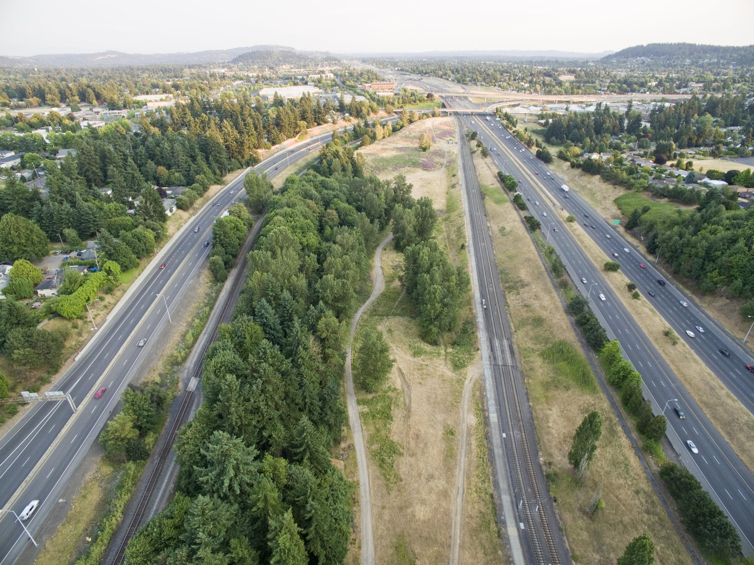 Gateway Green, multi-modal transportation and open spaces while enhancing habitat along Portland's I-205 corridor