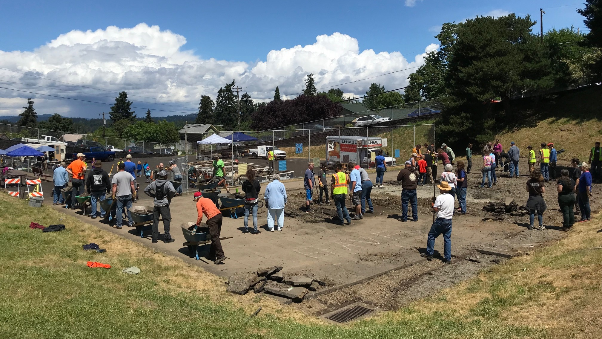 The Depave work party at  Latourette Park  in Oregon City