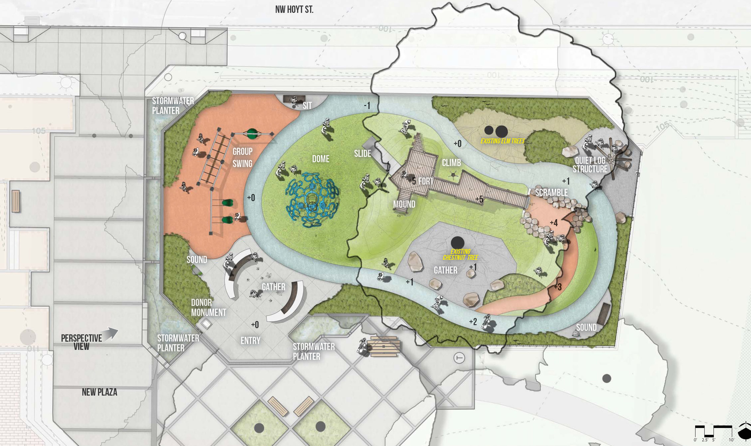 Couch Park Site Plan Birdseye View