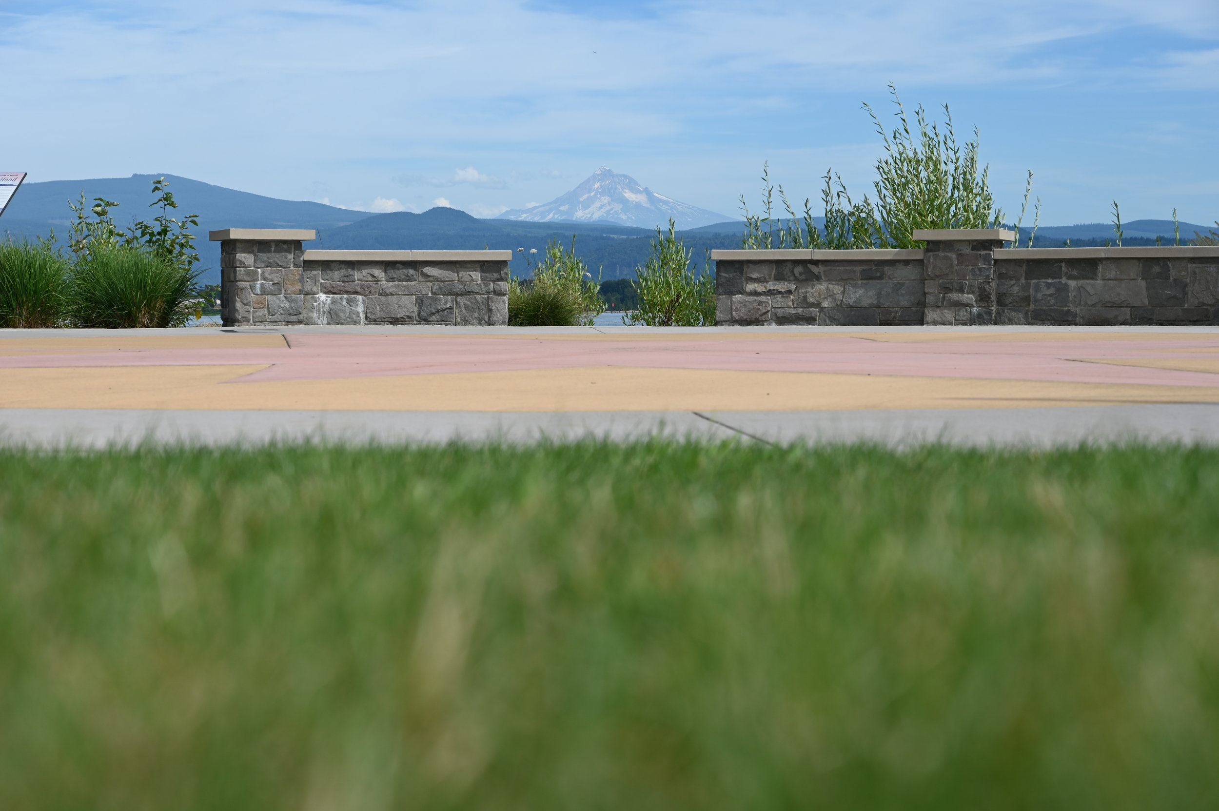 mt hood from washougal waterfront park compass feature