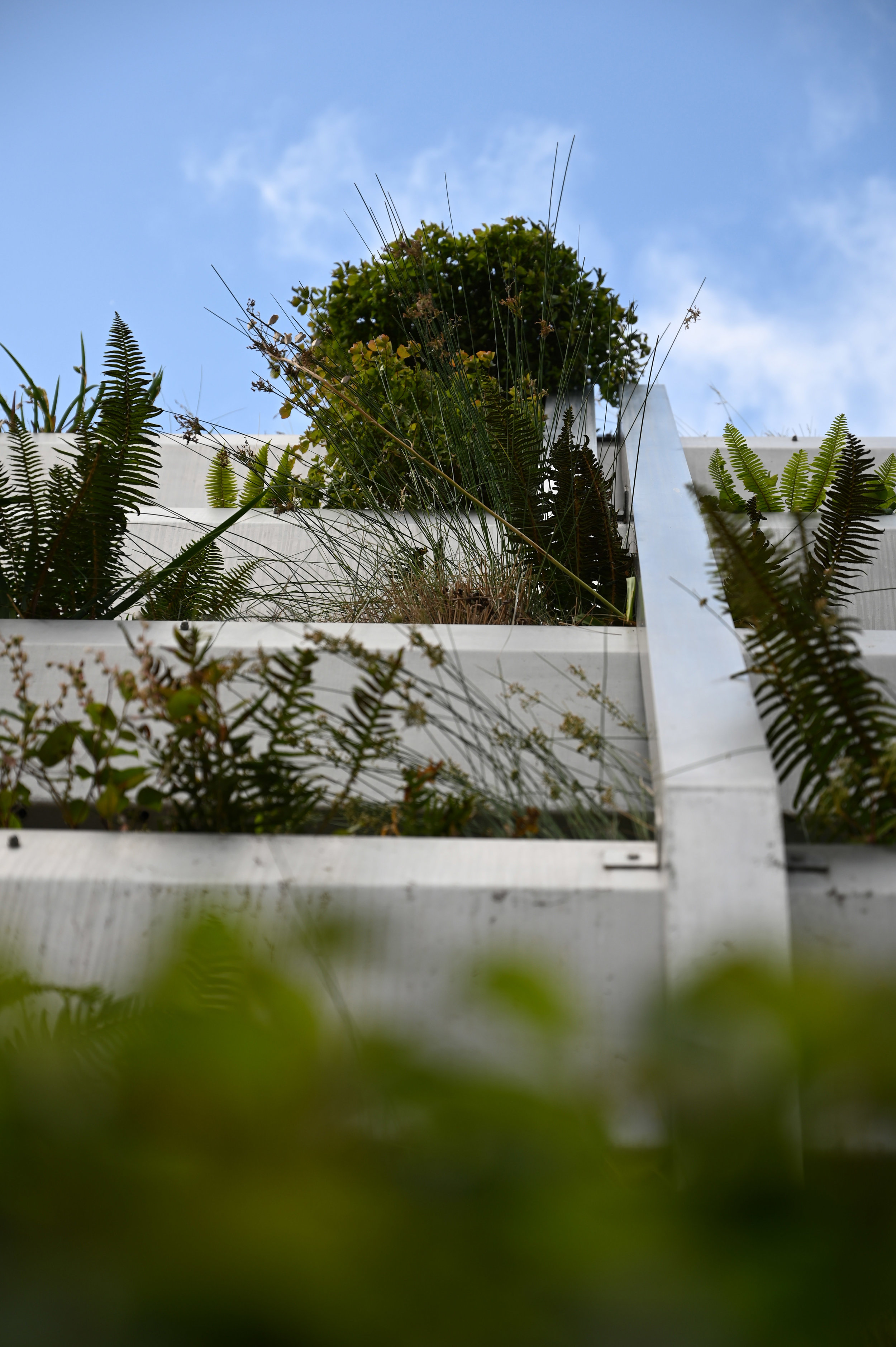 stormwater wall from ground against clear sky