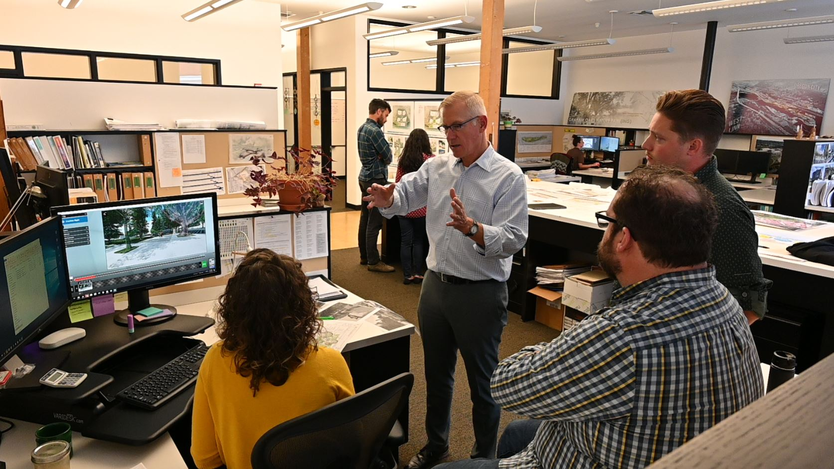 Mike Abbate of Abbate designs working on the visualization with the greenworks team