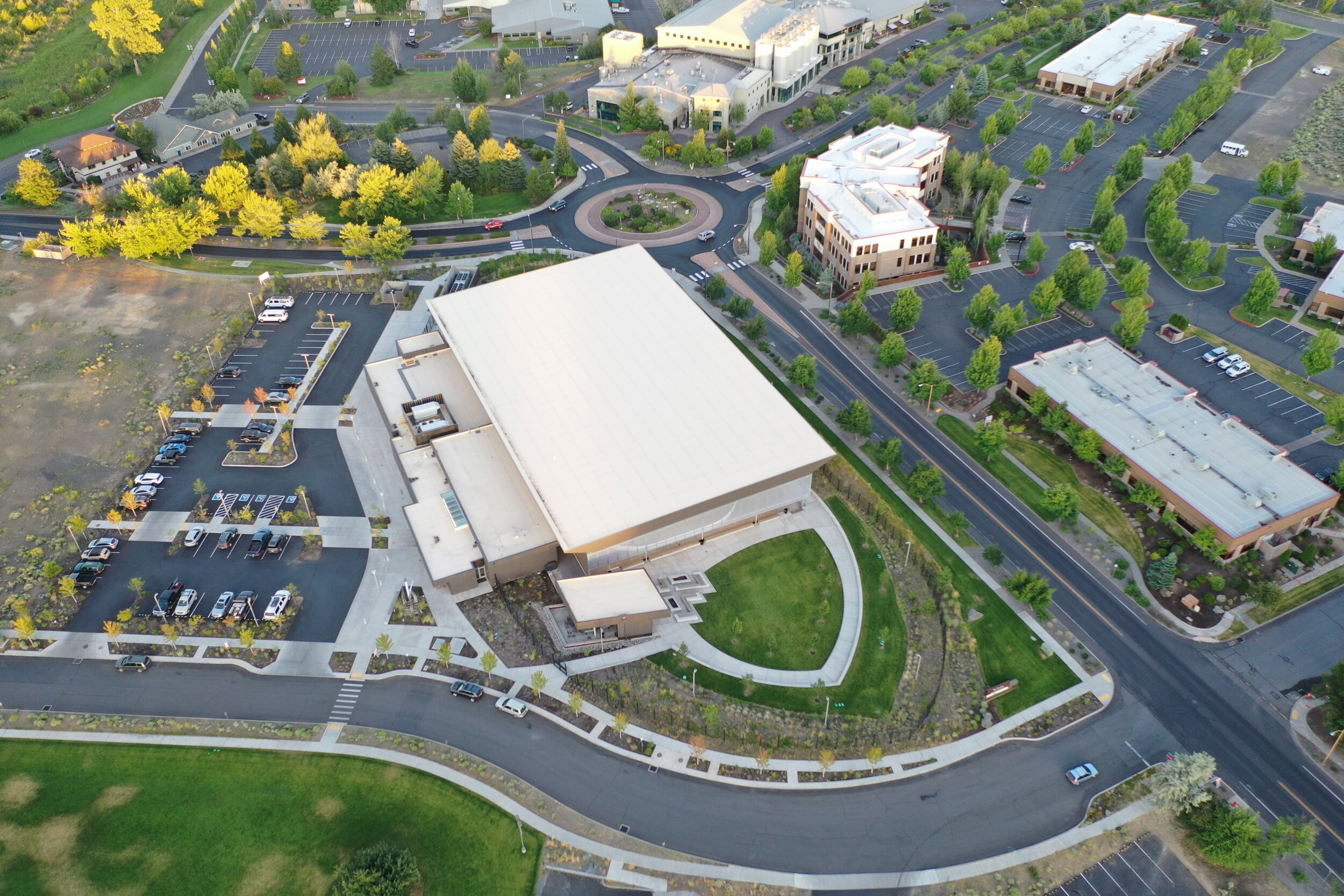 aerial_view_simpson_pavillion_circulation_roads_sidewalk.JPG