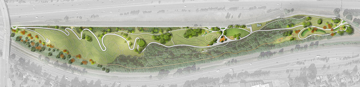 The park at the confluence of two freeways, A Gateway Green Conceptual Design