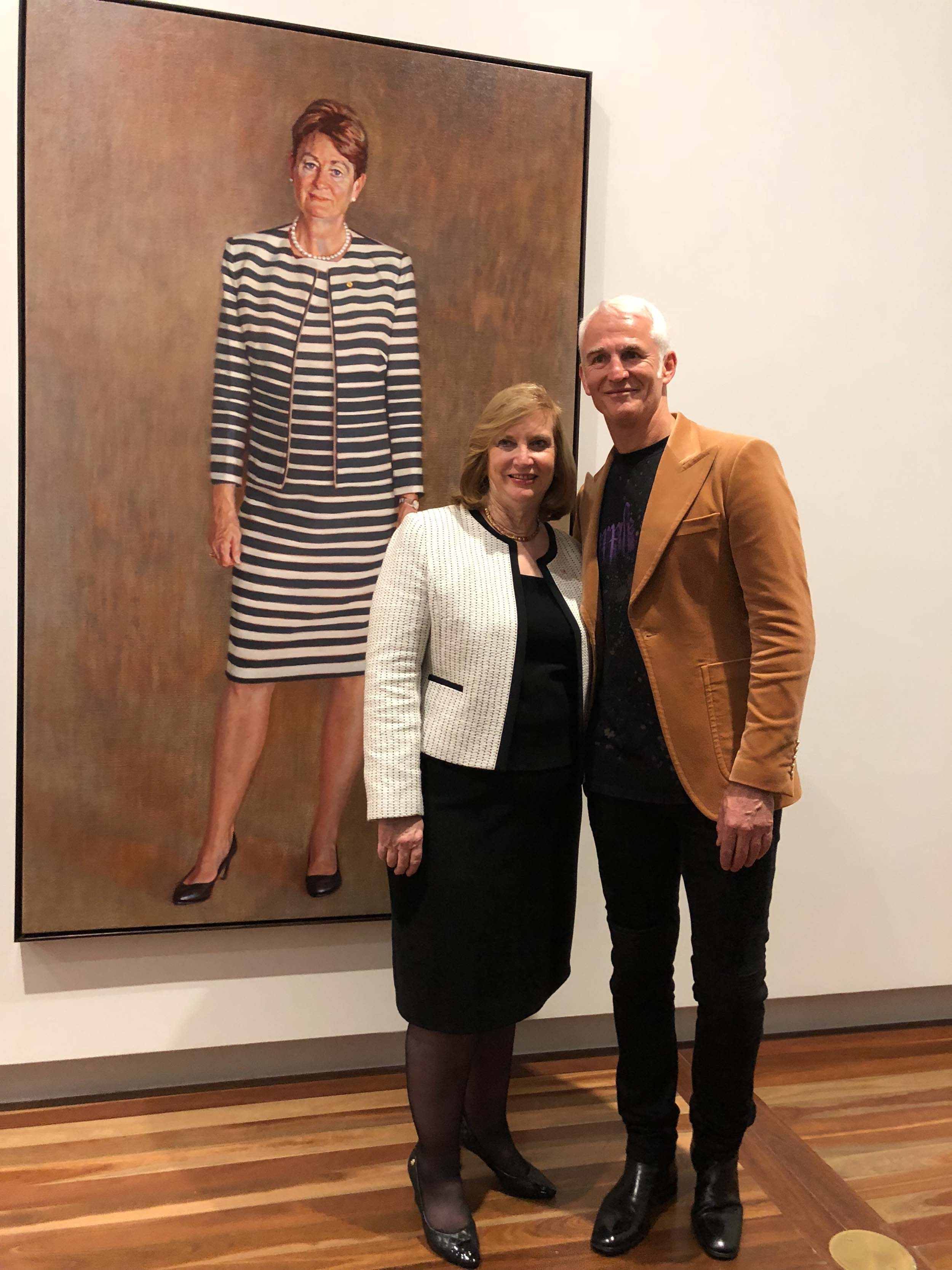 With Dr Helen Nugent AO, National Portrait Gallery Chairman