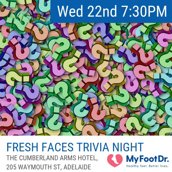 Wednesday 22 May  The Fresh Faces Trivia Night is an excellent opportunity for students and new professionals to grow their professional network.  The Trivia night is included in the registration cost for all students, new graduates and new professional registrations and we encourage all to attend.  There will alcoholic and non-alcoholic refreshments along with some further grazing style food throughout the evening.  Please indicate your intention to attend the Fresh Faces Trivia Night during the registration process. If you have overlooked this during registration, you can return to the  registration portal here  to update your preferences.