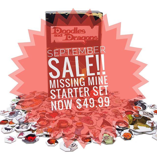 September Sale!! The Missing Mine Starter Set is now only $49.99 for a limited time!! #SeptemberSale . . . #dnd #dnd5e #dungeonmaster #dungeonsanddragons #DoodlesandDragons #DM #d20 #dungeoneering #drawing #illustration #amazon #tokens #art #ttrpg #rpg #roleplayinggame #tabletopgaming  #tabletop #game #kickstarter #entrepreneur #dndiy #smallbusiness #seattle #WA