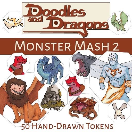 50 new, varied, and always hand-drawn tokens in the Monster Mash 2 token set on the #Roll20 marketplace! $4.99 link in bio!! @roll20app . . . . #dnd #dnd5e #dungeonmaster #dungeonsanddragons #DoodlesandDragons #DM #d20 #dungeoneering #drawing #illustration #markers #tokens #art #ttrpg #rpg #roleplayinggame #tabletopgaming  #tabletop #game #dndiy #diy #seattle #WA