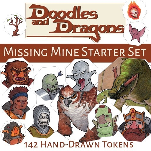 The entire Missing Mine Starter Set is now available on the #Roll20 marketplace for $9.99!! All 142 tokens, every one needed for the entire Lost Mine of Phandelver campaign from the official 5th Ed D&D Starter Set! A great bundle for any Virtual table-topper! @roll20app #bundle . . . . #dnd #dnd5e #dungeonmaster #dungeonsanddragons #DoodlesandDragons #DM #d20 #dungeoneering #drawing #illustration #markers #tokens #art #ttrpg #rpg #roleplayinggame #tabletopgaming  #tabletop #game #kickstarter #vtt #dndiy #diy #seattle #WA