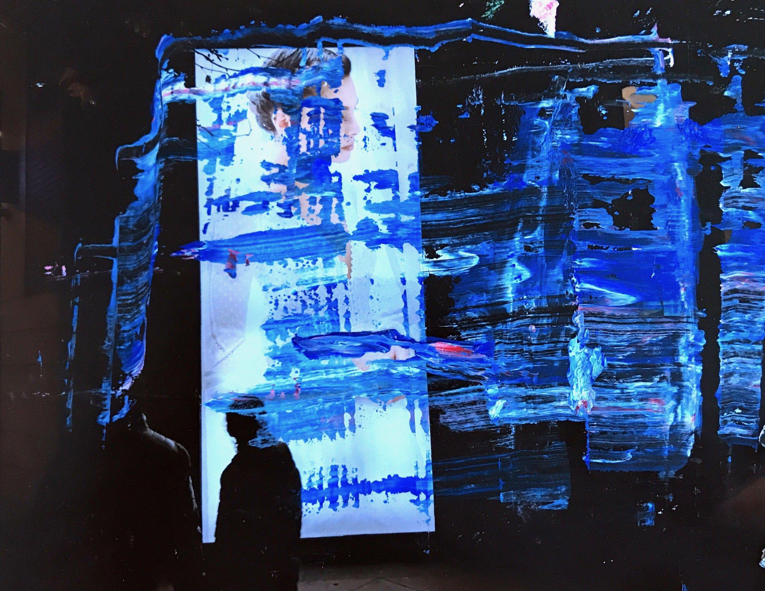 """Pronovias"" Oil paint over printed photograph. Boston, 2018."