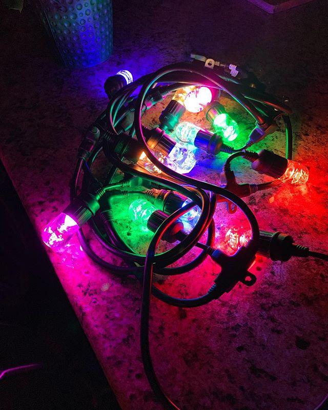 New LED lights for the back porch!
