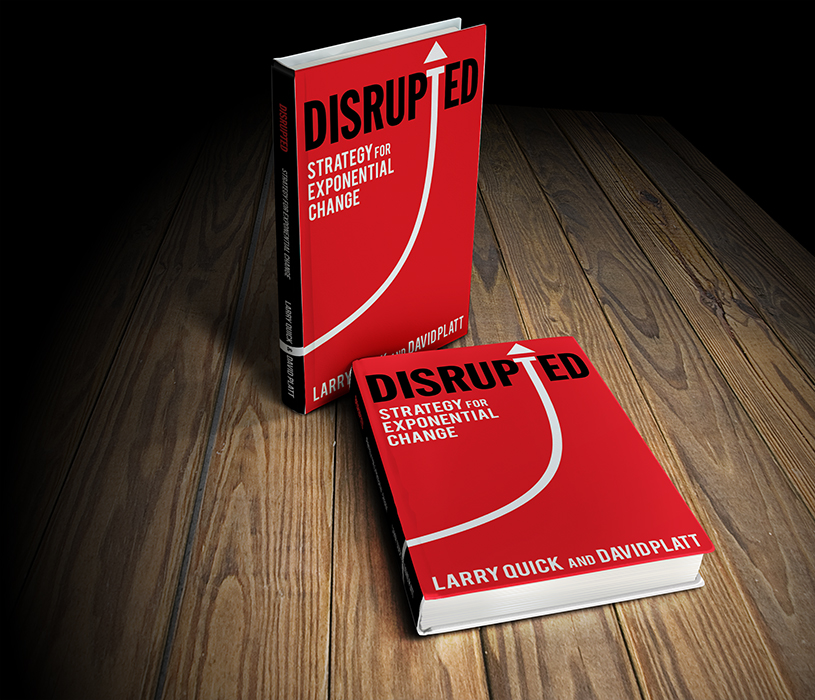"""DISRUPTED: FREE EXCERPT - Disrupted: Strategy for Exponential Change is a guidebook to the exponential era and a toolbox for proactively leveraging this change. Disrupted helps readers to understand the kind of """"strategic thinking"""" that allow teams and leaders to confidently pursue opportunities with a shared strategic language, and a methodology designed for agile execution at all levels of their organisation."""